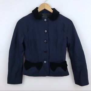 Marc Jacobs Navy Bow Pocket Blazer